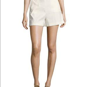 Theory White Linen/Viscose Shorts Size 10